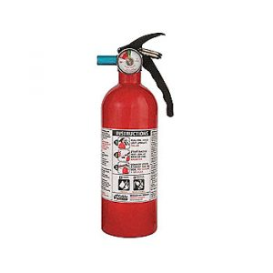 Mobile home fire extinguisher